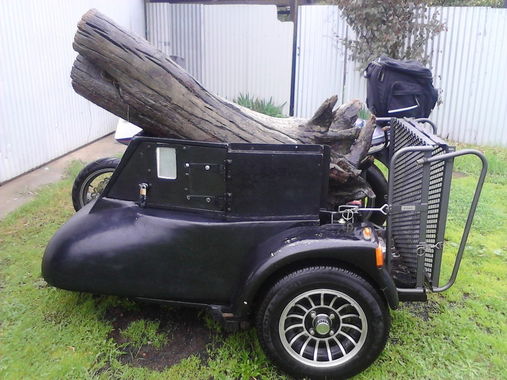 Wheelchair Sidecar Wood