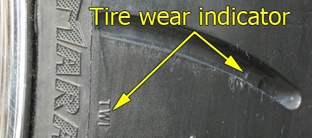 Motorcycle Tire Wear Indicator