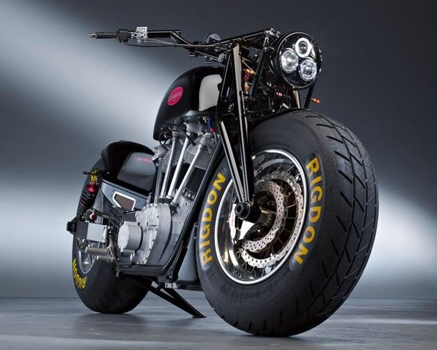 Leonhardt Gunbus Huge Motorcycle