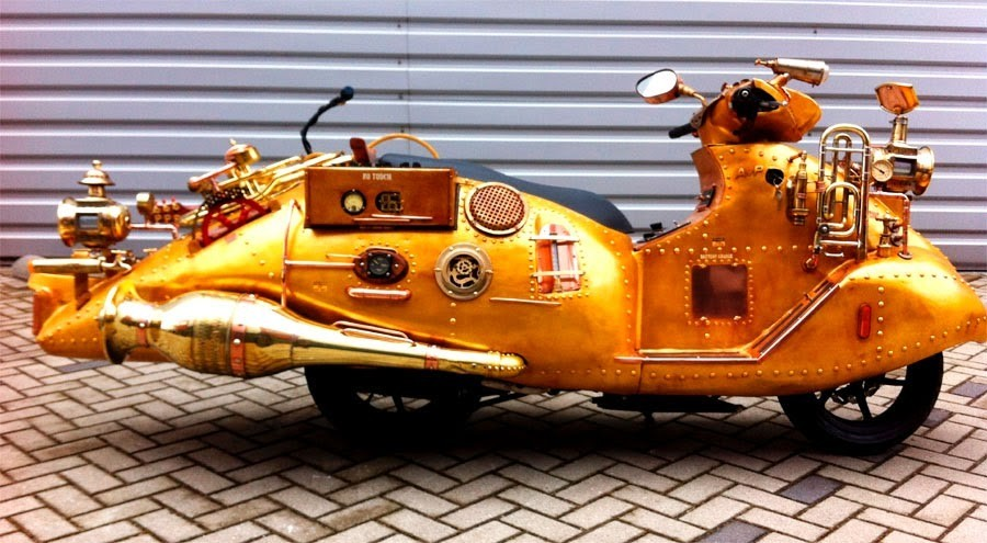 Arthur Van Popel Steampunk Scooter