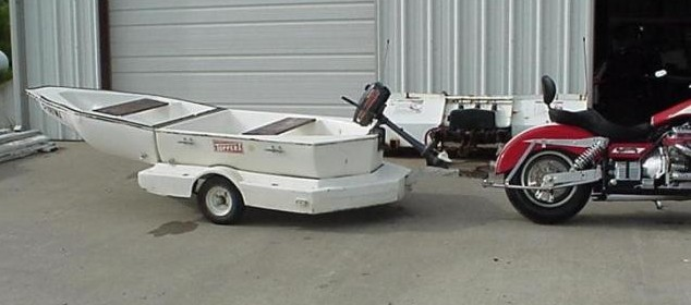 Folding Boat Motorcycle Trailer