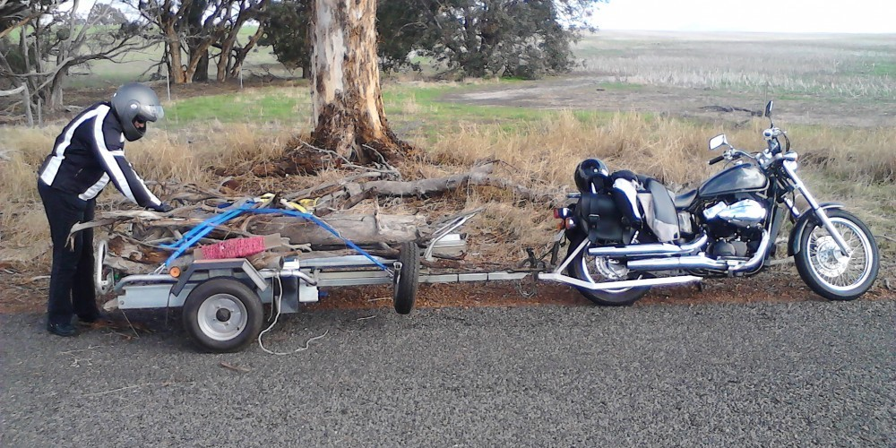 Motorcycle Trailer Towing Wood