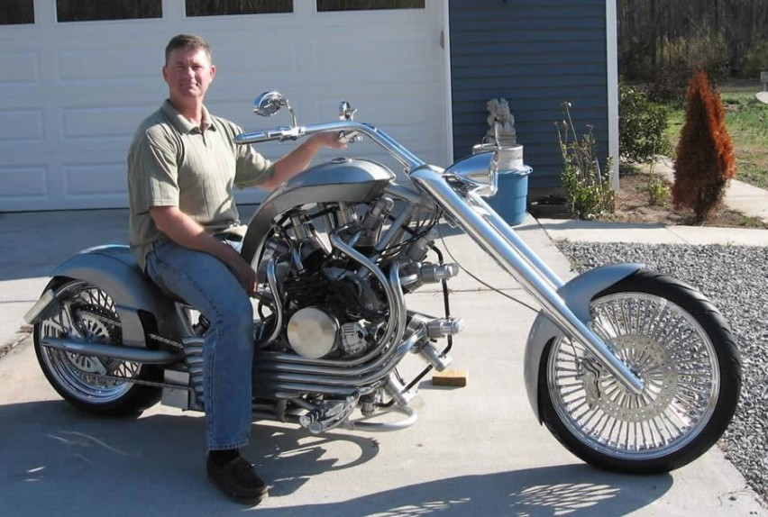 Lucky 7 Radial Engine Motorcycle