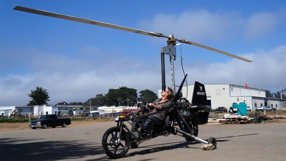 Flying Motorcycle Helicopter