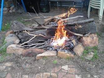 Motorcycle Trailer Wood Fire