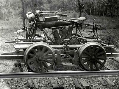 Railway Indian Motorcyle Steampunk