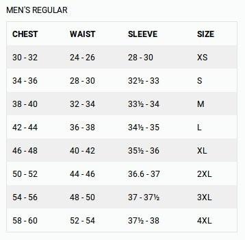 FirstGear Size Guide