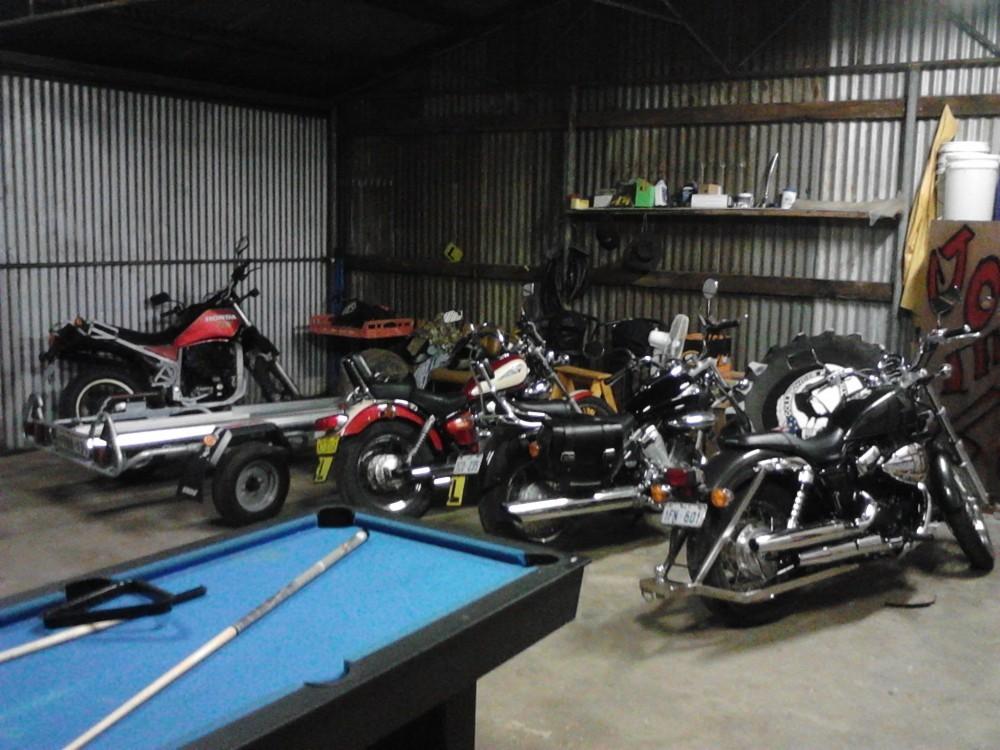 Bikes Inside Garage