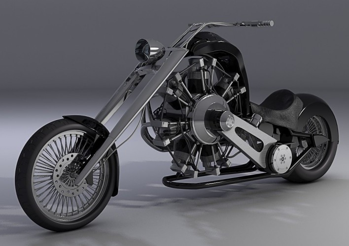 Radial Engine Motorcycle