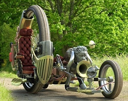 Steampunk Sidecar Motorcycle