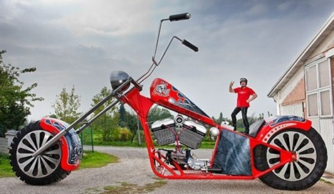 World's Tallest Motorbike