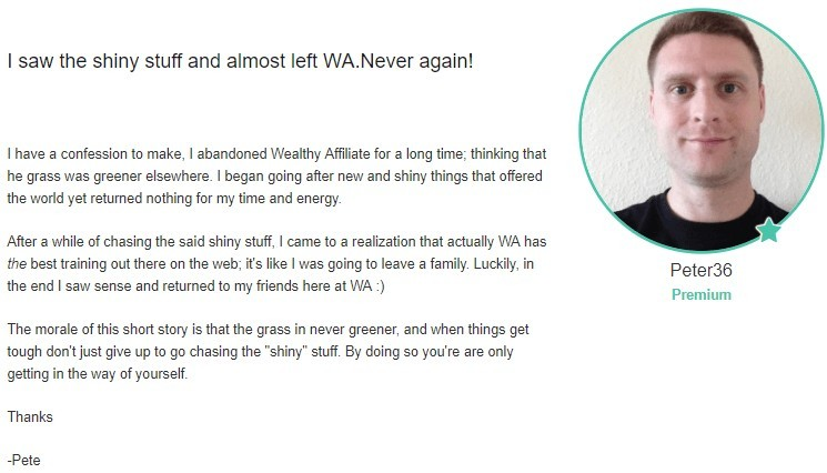 Interesting reason to leave Wealthy Affiliate