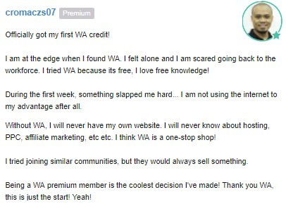 The reason behind joining Cromaczs07 the Wealthy Affiliate