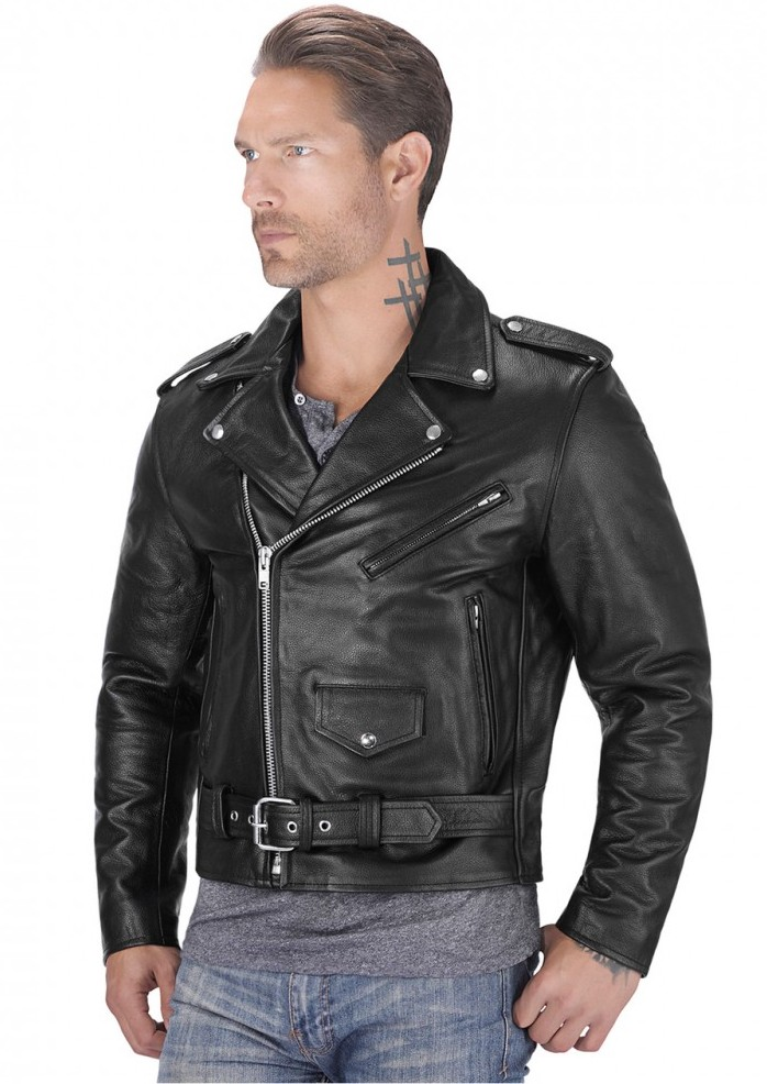 Viking Cycle American Eagle Leather Jacket for Men