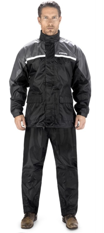 Rain gear in grey color