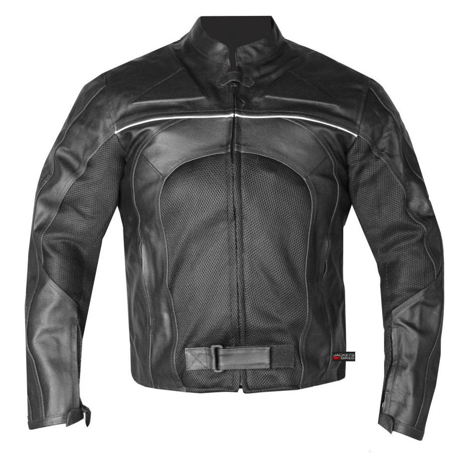 New Men's Razer Motorcycle Biker Armor Mesh & Leather Black Riding Jacket