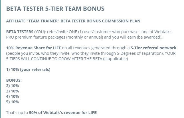 Beta Tester 5-Tier Team Bonus
