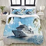 Tropical cruise ship bedding