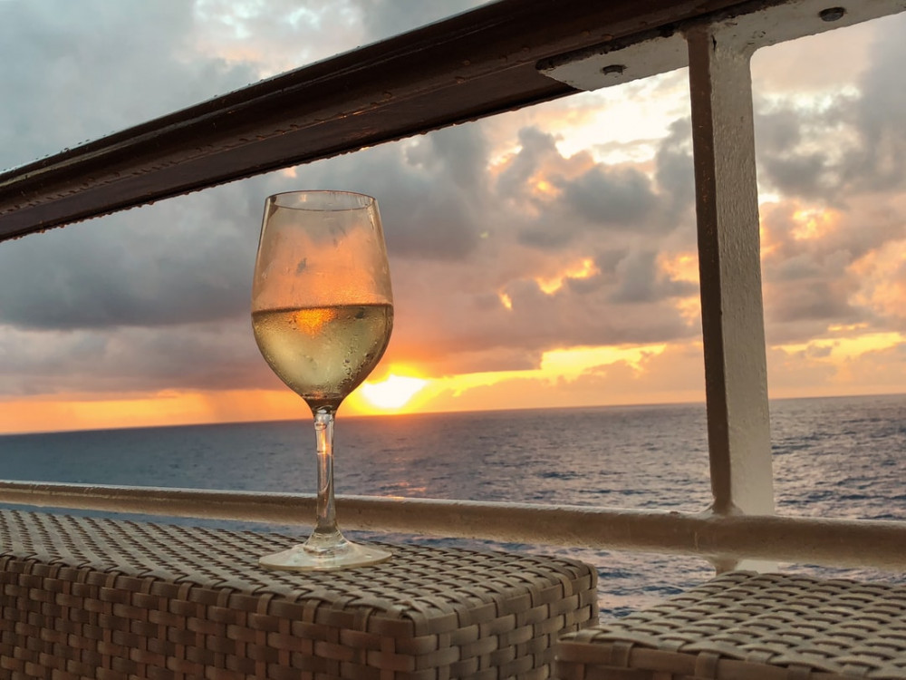 wine on cruise