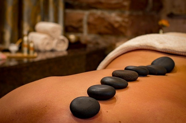 spa with hot stone treatment