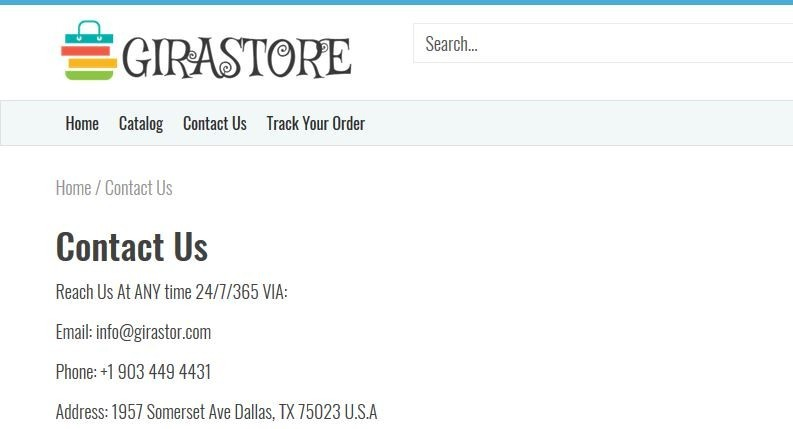 Contact Information for Girastor.com