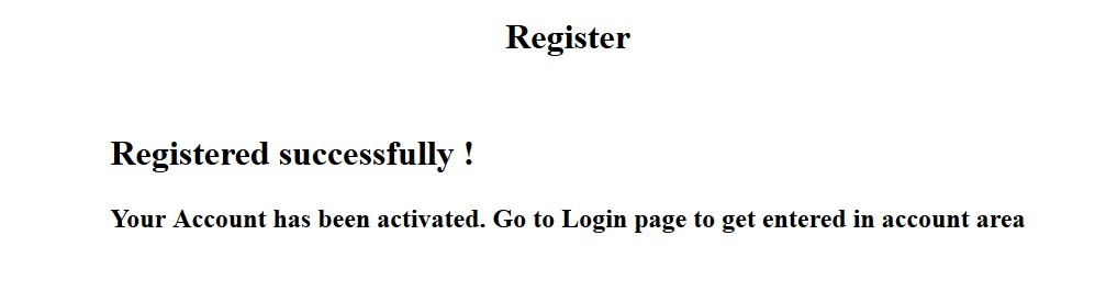 I registered with null info