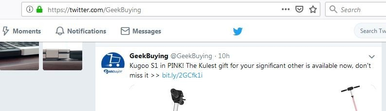 GeekBuying's Twitter Account