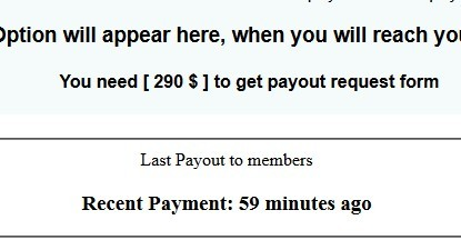 Last payout to members