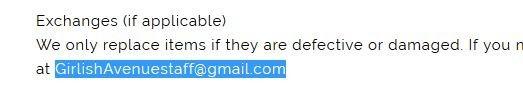 Girlish Avenue's Email Address