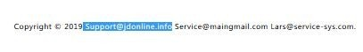 Fraudulent email Support@jdonline.info