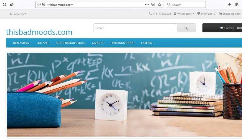 ThisBadMoods.com's main page