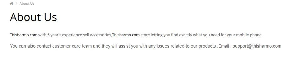About ThisHarmo.com Page