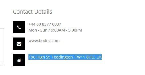 Contact Info For Bodnc.com