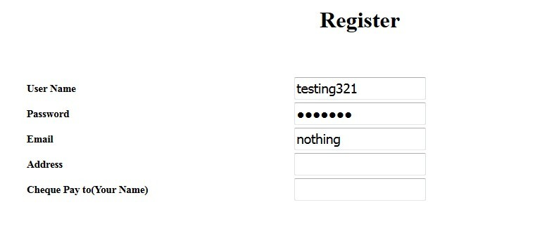 Problems with registration
