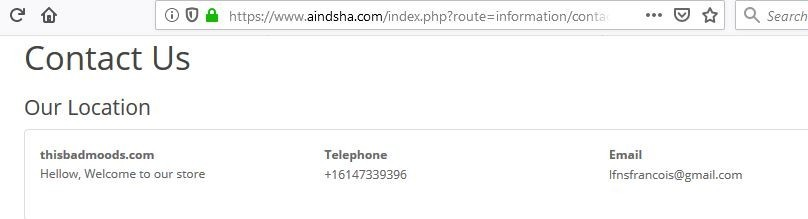 Aindsha's Contact Info