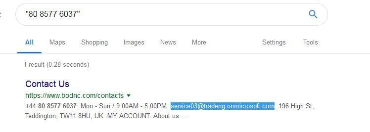 Email address associated with bodnc.com