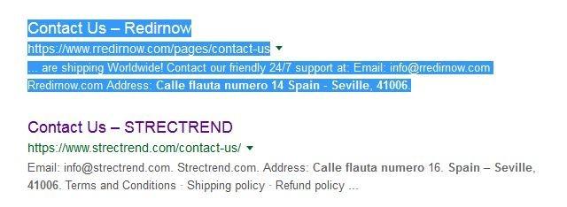 Redirnow's contact info