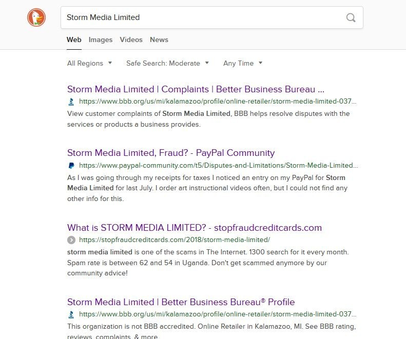 Search Results For Storm Media Limited