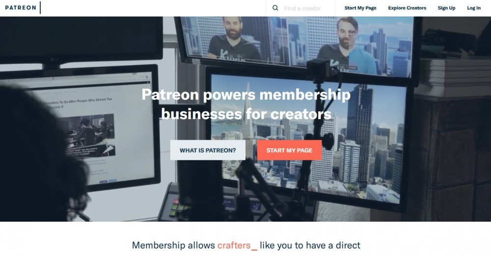 Patreon Front Page