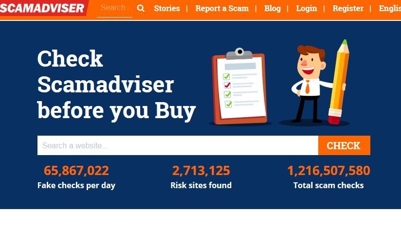 ScamAdviser's Homepage