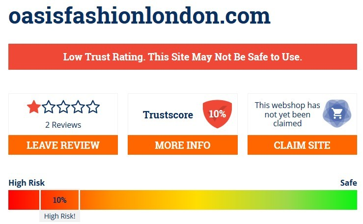 Low Trust Score On Scamadviser