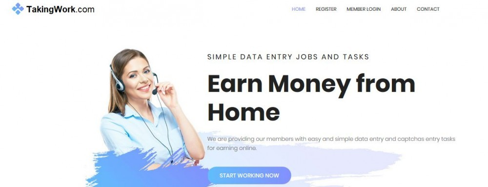 TakingWork.com's Main Page