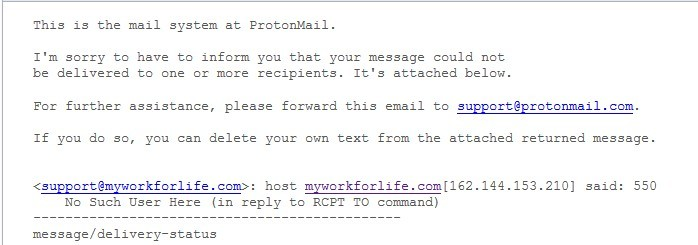 No Valid Email Address
