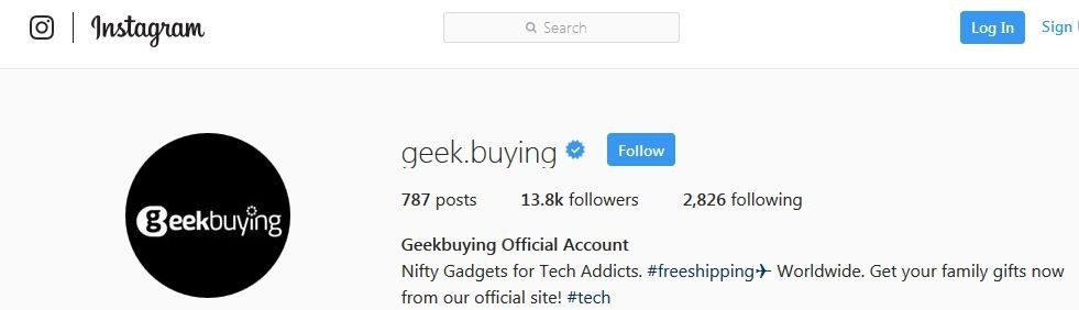 GeekBuying's Instagram Account