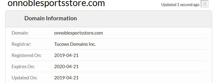 Site Was Registered On April 21st, 2019
