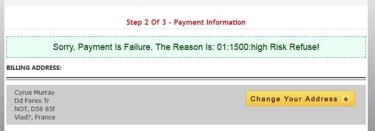 Payment Failed