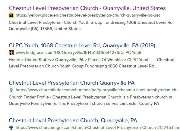 ChestNut Level Presbyterian Church