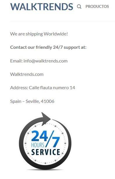 Walk Trends' Contact Info