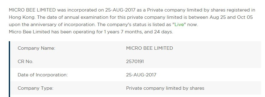 Micro Bee Limited Info