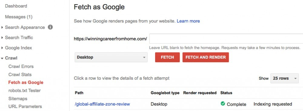 How to get your website indexed fast - fetch as google